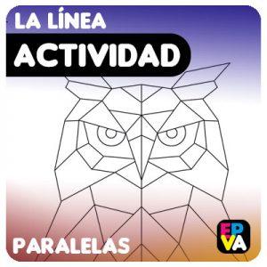 Ficha Buho: Dibujo con Líneas Paralelas.