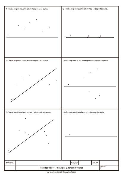 Lámina paralelas y perpendiculares para Plástica