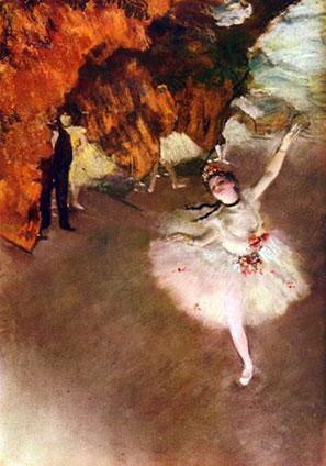 La bailarina de Edgar Degas