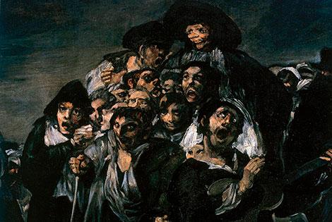 Detalle de La Romería de San Isidro, pintura de Goya.