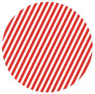 Círculo creado con una trama de líneas.