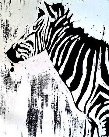 Falso grabado en blanco y negro.