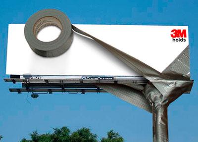 Valla publicitaria 3M con formato irregular.