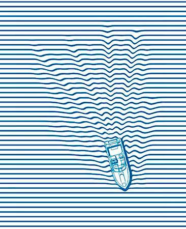 Dibujo con líneas horizontales