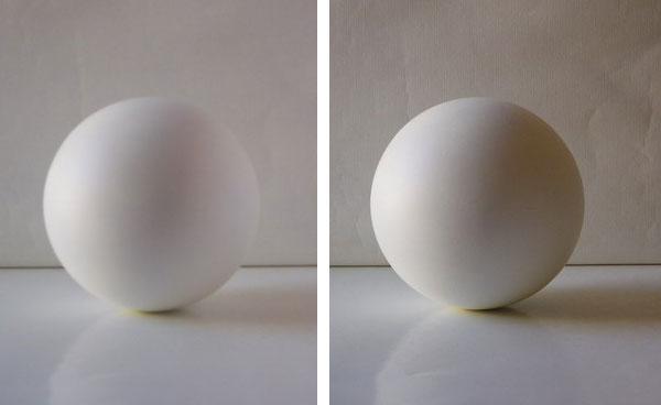 Luz dura y luz difusa, ejemplos