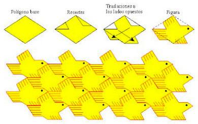 red modular con figuras de palomas
