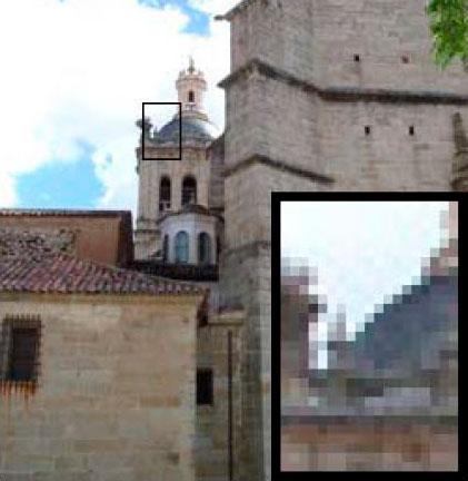 Detalle de píxeles en una imagen
