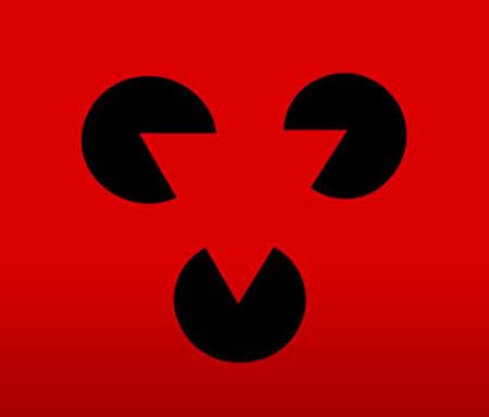 Triángulo sobre círculos
