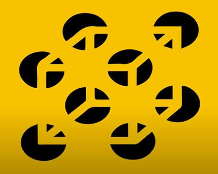 Cubo sobre círculos