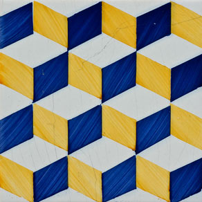 red modular con efecto tridimensional