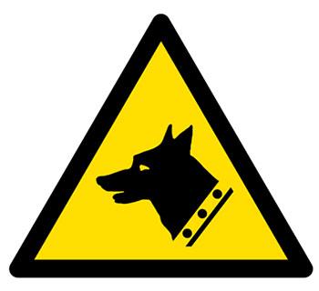 Señal cuidado con el perro