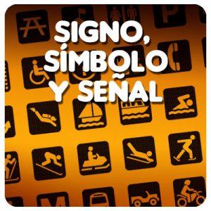 Signo, símbolo y señal.