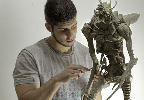 Escultura con barro