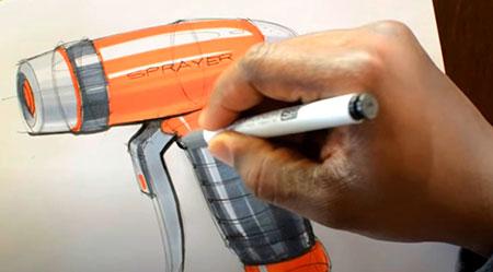 Diseño industrial con rotuladores