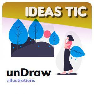 Ilustra tus proyectos con unDraw